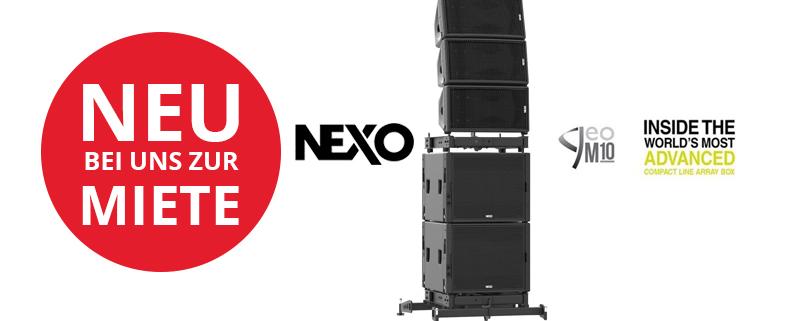 NEXO GEO M10 Lautsprecher im Mietpool bei Eventservice Bülow