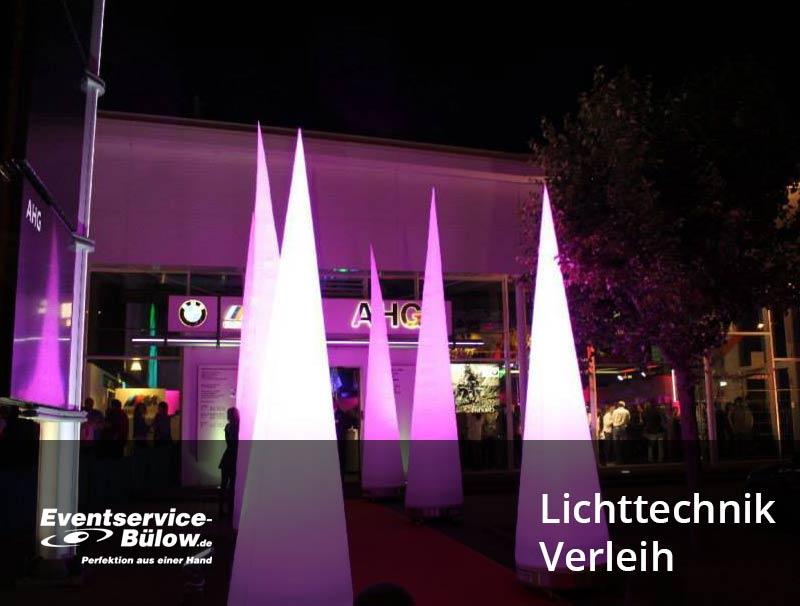 Lichttechnik für Veranstaltungen zur Miete Eventservice Bülow